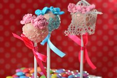 Cupcake cake pops Stock Photos