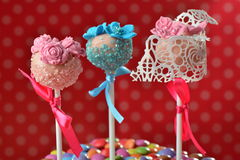 Cupcake cake pops Royalty Free Stock Photography