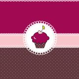 Cupcake card. Sweet illustration vector illustration