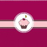 Cupcake card Stock Photo