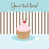 Cupcake card Stock Photography