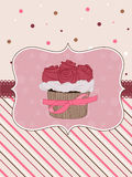 Cupcake Card royalty free illustration