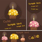 Cupcake card Stock Image