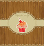 Cupcake Card Royalty Free Stock Images