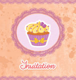 Cupcake Card vector illustration
