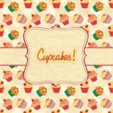 Cupcake Card Royalty Free Stock Photo