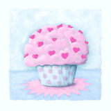 Cupcake card design Stock Image