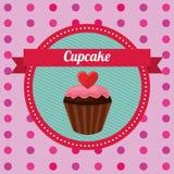 Cupcake card Stock Image