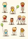 Cupcake cartoon characters Stock Image