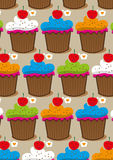 Cupcake cartoon  Royalty Free Stock Photography