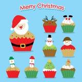 Cupcake Cartoon Merry Christmas Vector vector illustration