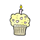 Cupcake cartoon Royalty Free Stock Images