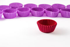 Cupcake case on white background. Empty cupcake case on white background Stock Photo