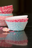 Cupcake cases Royalty Free Stock Photo