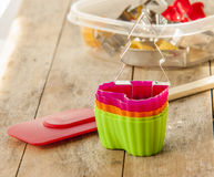 Cupcake cases Royalty Free Stock Images