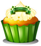A cupcake for the celebration of St. Patrick's day Stock Images