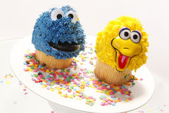 Cupcake characters Stock Image