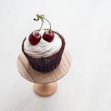 Cupcake with cherries Stock Images