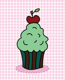 Cupcake with cherry Royalty Free Stock Image