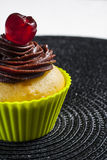 Cupcake with cherry. Royalty Free Stock Photography