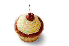 Cupcake with a cherry. Stock Photography