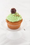 Cupcake with cherry Royalty Free Stock Photo
