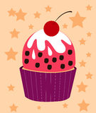 Cupcake Cherry Vector Royalty Free Stock Photography