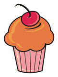 Cupcake with a cherry Stock Image