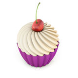 Cupcake with cherry Stock Photo