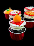 Cupcake in chinese theme. Close up of cupcake in chinese theme Royalty Free Stock Photography