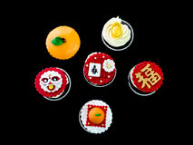Cupcake in chinese theme Stock Photos