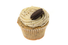 Cupcake with a chocolate cookie and buttercream topping Stock Image