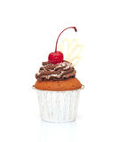 Cupcake with chocolate cream Stock Photography