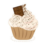 Cupcake with chocolate cream Stock Photos
