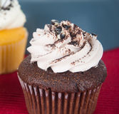 Cupcake. chocolate cupcakes on the background Royalty Free Stock Image