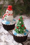 Cupcake Christmas Stock Images