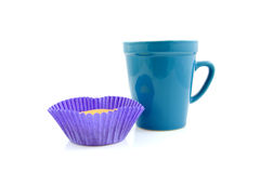 Cupcake and coffee Stock Photography