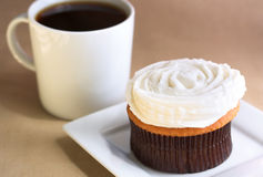 Cupcake with coffee Royalty Free Stock Photo
