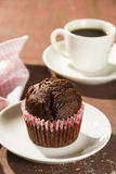 Cupcake and coffee Stock Images