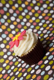 Cupcake with colorful background Stock Image