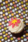 Cupcake with colorful background Royalty Free Stock Images