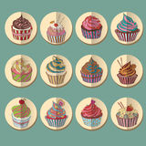 Cupcake colorful icon. Royalty Free Stock Photography