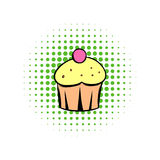 Cupcake comics icon. On a white background Stock Photography