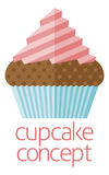 Cupcake concept design. Of a stylised cup cake or fairy cake Stock Photography