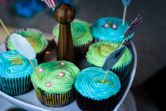Cupcake cooking show Royalty Free Stock Photos