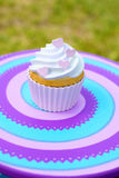 Cupcake with cream Stock Images