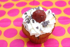 Cupcake with cream Royalty Free Stock Images