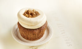 Cupcake with crumble on top Stock Photos