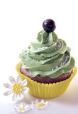 Cupcake with Daisies Stock Photos