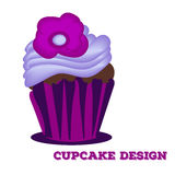 Cupcake design.Menu cover, web icon. Hand drawn Stock Photos